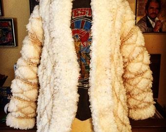 Vintage Hand Crocheted Coat