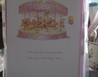 Girl's 2nd Birthday Wishes Card