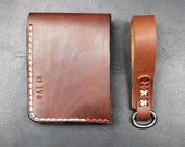 Leather Wallet and keychains - Leather Accessories - Gift Set
