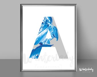 Letter A minimalist design poster wall art home decor    Printable   Instant Download