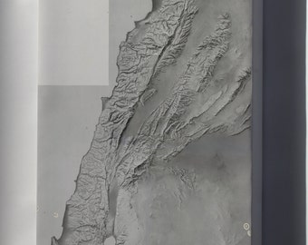 Canvas 24x36; Cia Terrain Map Of Lebenon