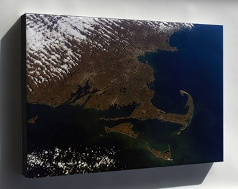 Canvas 24x36; Cape Cod Massachusetts From The International Space Station