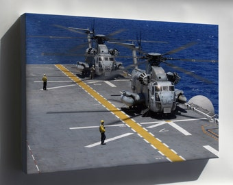 Canvas 24x36; Ch-53 Sea Stallions Uss Bonhomme Richard (Lhd 6)