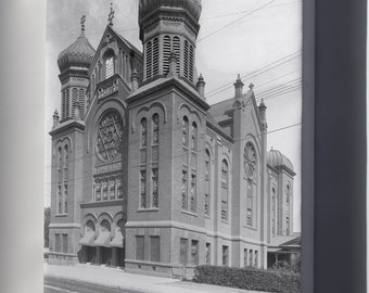 Canvas 16x24; B'Nai B'Rith Synagogue (Temple), Located On Hope And 9Th Streets, Los Angeles, Ca.1900 (-5118)