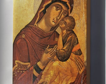 Canvas 16x24; Madonna And Child Byzantine