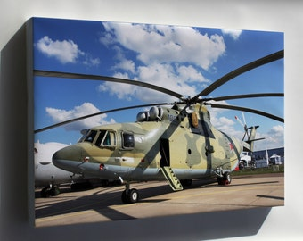 Canvas 16x24; Helicopter Mil Mi-26 Halo Russian Soviet P2
