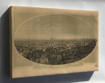 Canvas 16x24; View Of Los Angeles, California 1888