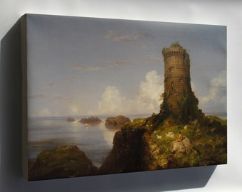 Canvas 16x24; Italian Coast Scene With Ruined Tower By Thomas Cole, 1838, Oil On Canvas National Gallery Of Art, Washington Dsc00053