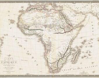 16x24 Poster; Carte De L' Africa Map 1820