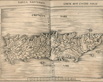 16x24 Poster; Map Of Crete 1513