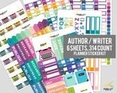 WRITER PLANNER KIT - Author / Writer / Book Planner Stickers