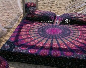 Bohemian Decor For Bedroom Boho Bedding Set Mandala Bedspread Hippie Bed Sheet