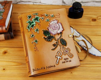 Leather Notebook A5 Custom Leather Journal Sketchbook Travel Book Gift Journal TiVergy Book