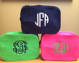 Monogrammed Makeup Cases - Monogram Make Up Bag - Personalized Bridesmaids Makeup Bags - Monogrammed Make Up Bag