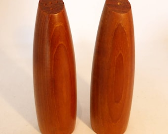 Vintage Teak wood salt & pepper shakers