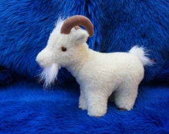 soft toy real wool goat