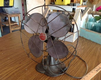 Vintage Emerson Junior Fan Model 2650-C St Louis, MO - Art Deco Oscillating