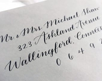 Wedding Envelope Addressing with Handwritten Calligraphy | Custom Calligraphy for Invitations | Joanna Style