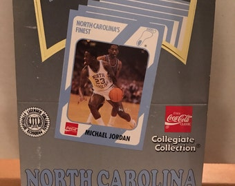 1989-90 First Edition Collegiate Collection Coca-Cola North Carolina Trading Card box