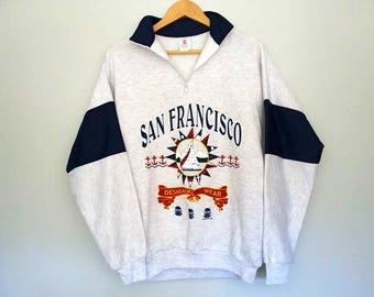 Vintage Sweater SAN FRANCISCO 1994 Pull Over Sweatshirt 90s Size Large