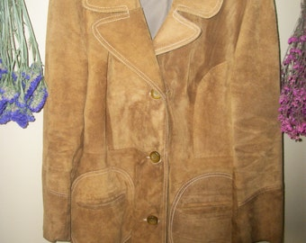 Vintage Leather Thy-Length Womens Coat