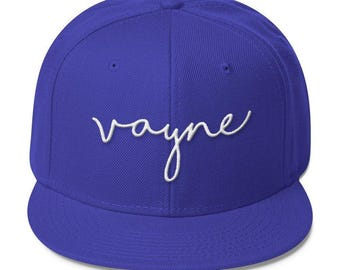 Signature Vayne Snapback, Headwear, Flatbill, Black Baseball Cap, Red White and Blue