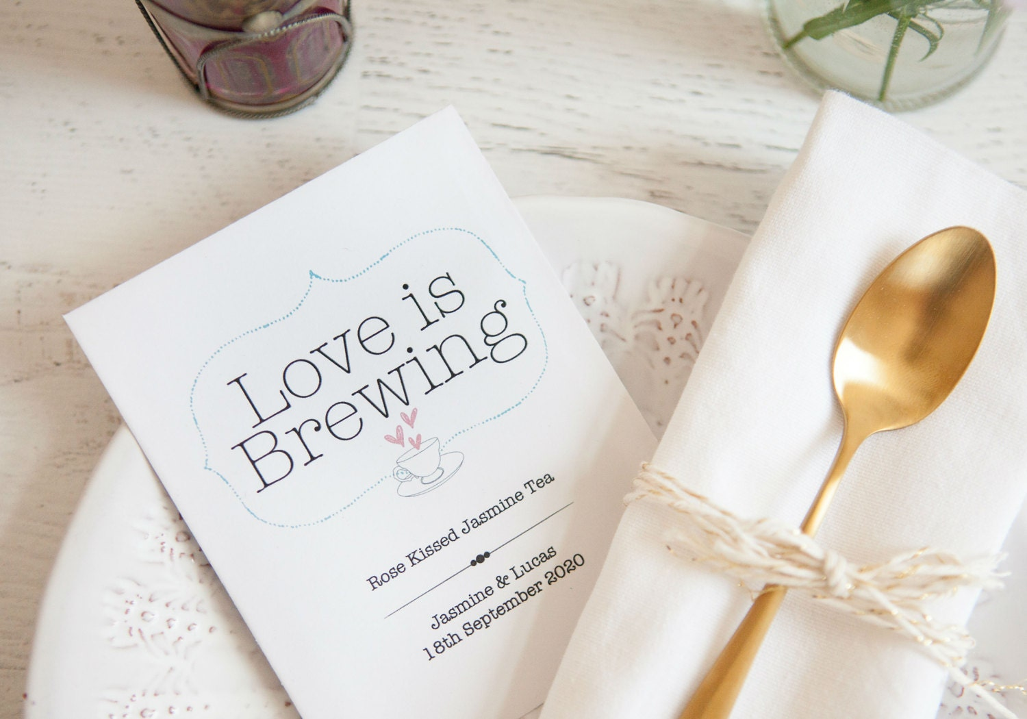 Love is brewing wedding favour