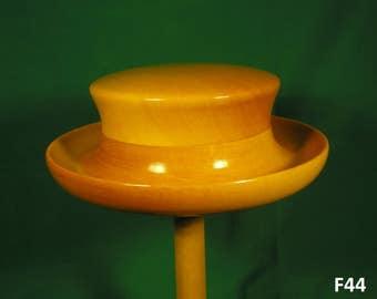 Wooden fascinator, hatform for millinery, hatmaker