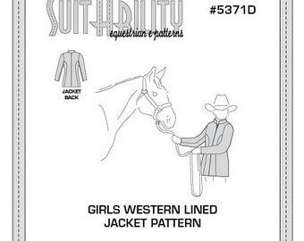 PDF Girls' Western Lined Jacket Pattern