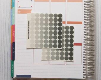 112 transparent sticker, dot stickers, round stickers, clear circle stickers, ec filofax kikki.k planner sticker, reminder checklist sticker