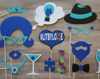 Autism Awareness Gala Benefit Fundraising Photo Booth Props