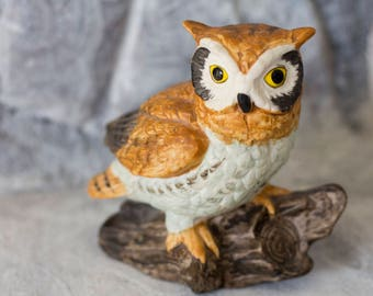 Vintage Owl - Owl Knick Knack - Owl - Vintage Owl Ceramic Collectible Figurine