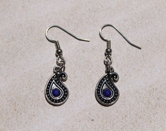 Southwestern Teardrop Dangle Earrings, Drop Earrings