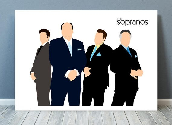The Sopranos // James Gandolfini // Minimalist Poster // Unique A4 / A3 Art Print