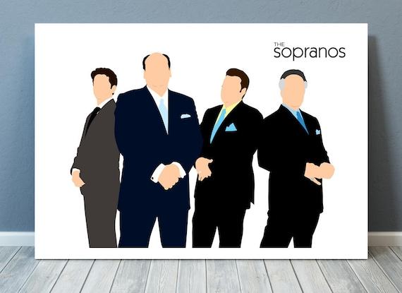 The Sopranos // James Gandolfini // Minimalist TV Poster // Unique Art Print