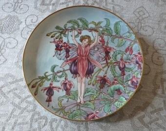 VILLEROY & BOCH * Heindrich Germany Porcelain Wandplatte Cicely Mary Barker *The Fuchsia Fairy*Feen Felder und Blumen-Serie Sammelteller