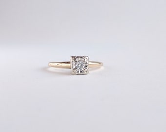 Vintage c1940 Diamond Solitaire