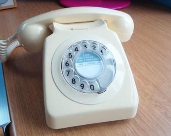ORIGINAL 1980'S GPO/BT 80's ivory dial telephone