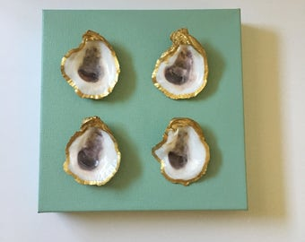 """8""""x8"""" Oyster shell canvas - solid"""