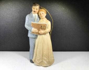 Vintage, ENESCO, 40th Wedding Anniversary Ornament, Excellent Condition