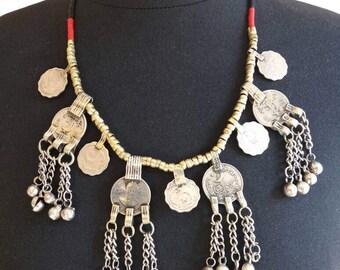 Necklace Kuchi/Kuchi necklace/Ethnic necklace/Tribal fusion/bellydance/coins/necklace boho/bohemian/Burning Man/