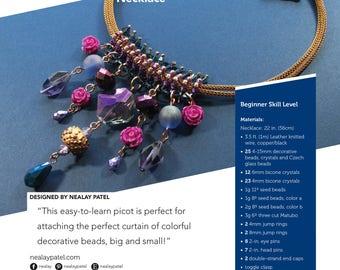 PATTERN – Raspberry Baret Necklace