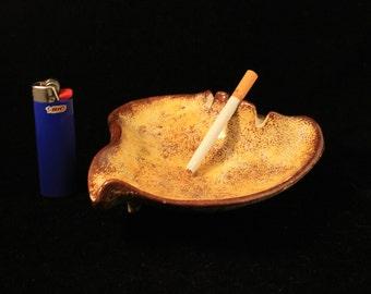 Vintage Ceramic Cigarette Ashtray Organic Shape Mid Century Modern