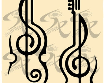 0581_ Vector_Violin_Musical_Instrument_Key Salt,SVG,DXF,ai, png, eps, jpg,Download files, Digital, graphical