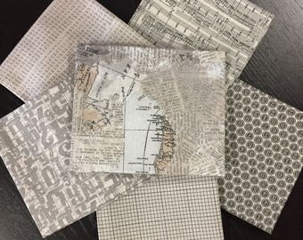Compositions - BasicGrey - Moda Fabrics - 6 Fat Quarters in Taupe Colorway
