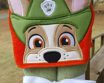 Tracking Pup Paw Patrol Hooded Towel  with FREE embroidered name