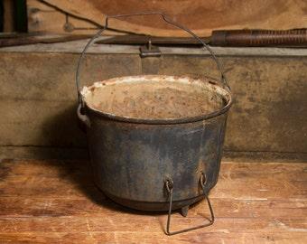 Large Antique Cast Iron Cauldron Farmhouse Antiques