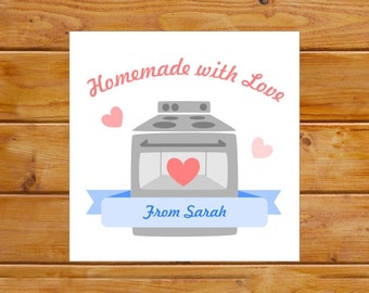 Personalized Homemade Tags - Baking Tags - Homemade With Love Gift Tags - Custom, Digital File, Printable