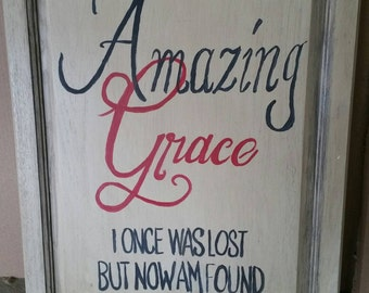 Amazing Grace hand painted mural