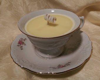 Tea Cup Candle - Vanilla Scented